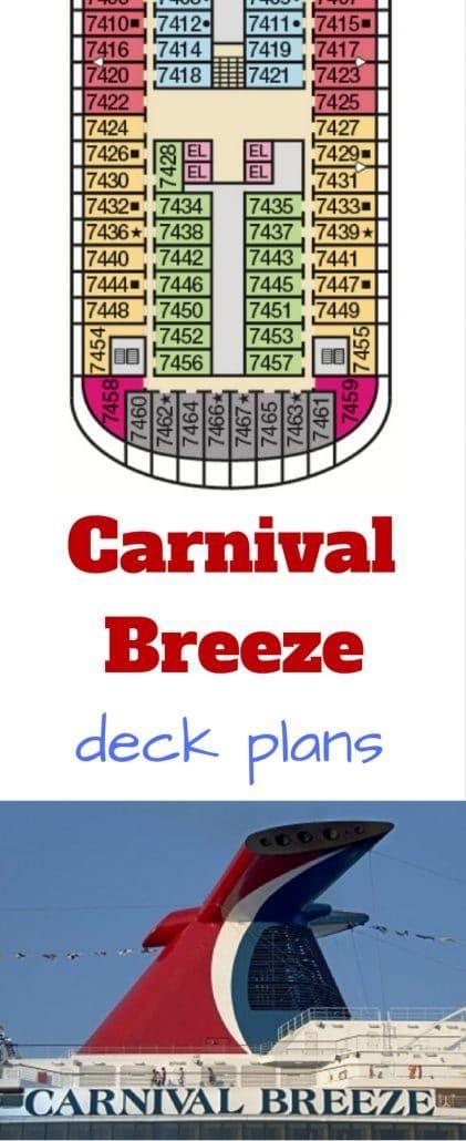 carnival breeze #carnival cruise ship deck plans #deckplan deck plan