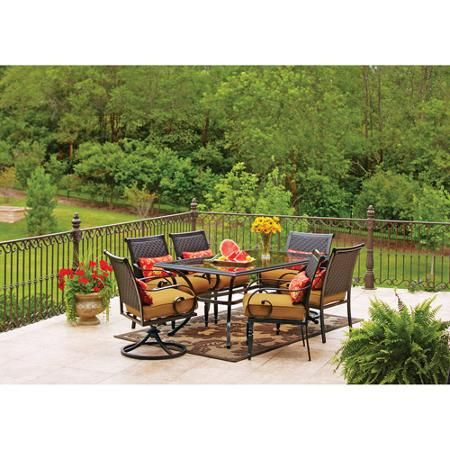 Better homes and gardens englewood heights ii 7 piece - Better homes and gardens dining set ...