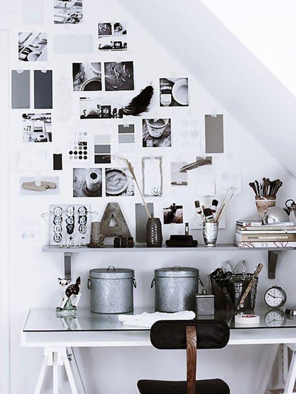 17 beste idee n over wit kantoor op pinterest gouden kantoor kantoor aan huis organisatie en - Kantoor deco ...