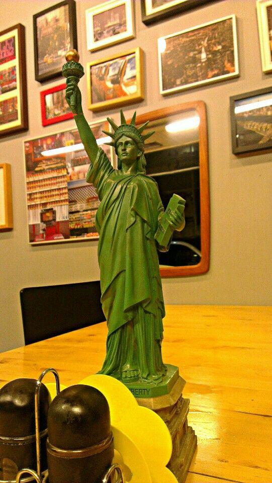 #StatueofLiberty #miniature at New York Sandwitches #dinner