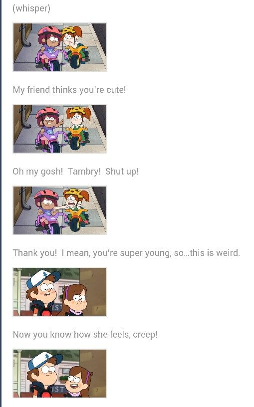 Awww Dipper and Wendy are so cute