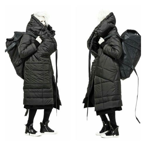 concept+puffer coat+layers+bag