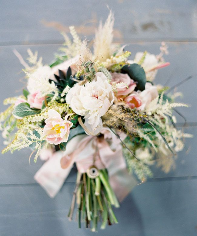 Love this textural and 'undone' giant bouquet by Studio Fiore Design