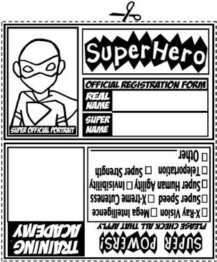 Kids get to create their own Superhero ID cards!