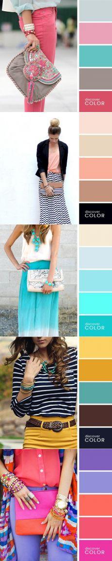 15 combinação perfeita de cores na roupa