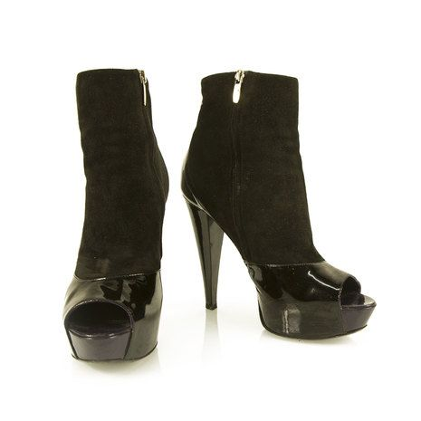 Sergio Rossi Camilla Leather Ankle Boots Gr. IT 37