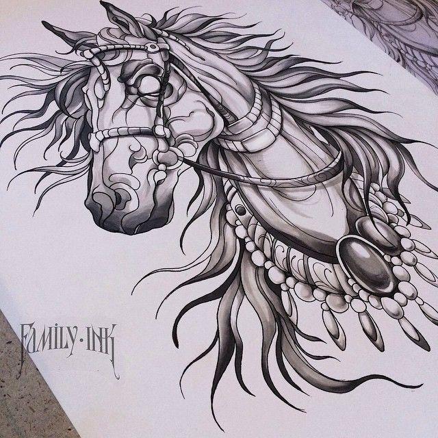 Рисунок для будущей татуировки. Желающие пишите Илье http://vk.com/dementiev_iliya #familyink #familyinktattoo #horse #horsesketch #sketch #tattoodesign #tattooart #linework