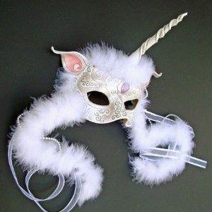 CUSTOM UNICORN MASK...handmade leather mask made...