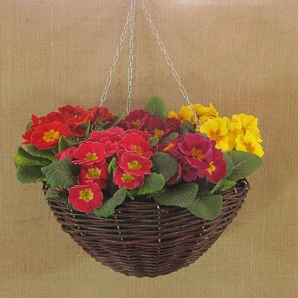 Wiklina (Wicker) - Czarka średnia z kwiatami