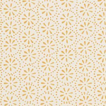 Beställ Daisy Spots gul/orange/röd tapet från Sanderson®