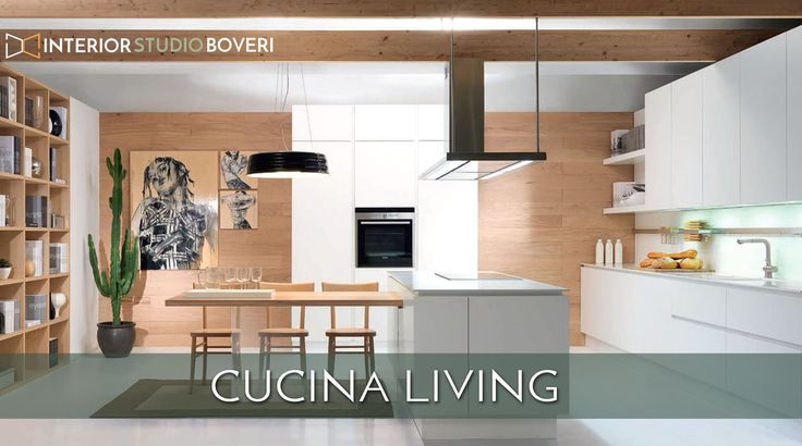 "Un ambiente cucina/living da abitare, uno scenario ideale in cui trascorrere la propria quotidianità.  Una cucina sobria, conviviale, con una zona cottura centrale ad isola. Ante in finitura ""Setamat"" opaco bianco. Top in corian bianco sp.12mm c/vasche integrate. Tavolo c/piano in massello di rovere sp40mm sostenuto da una spalla in cristallo trasparente. #CucinaIsola #CucinaLiving #cucina #arredo #kitchen #KitchenIsland #Design #Home #InteriorDesign #InteriorStudioBoveri"