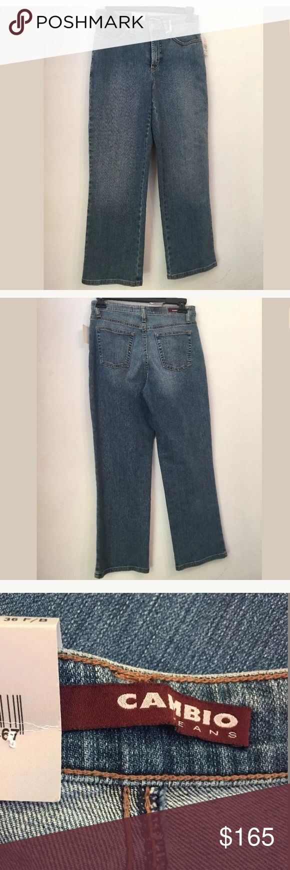 NWT $165 CAMBIO C16 Blue Jessica Capri Jeans Sz 4 NWT $165 CAMBIO C16 Blue Jessica Capri Jeans Size 4  Your satisfaction is our #1 priority.  This is why we ship twice daily Monday thru Saturday to get the item to you as quickly as possible!! :).  If for any reason you are not 100% satisfied please message us and we will work with you to make it right!!      Measurements: Waist: approx. 26 inches Inseam: approx. 24 inches  -Retails Price: $165 + TAX -Material: 98% Cotton, 2% Elastane Cambio…