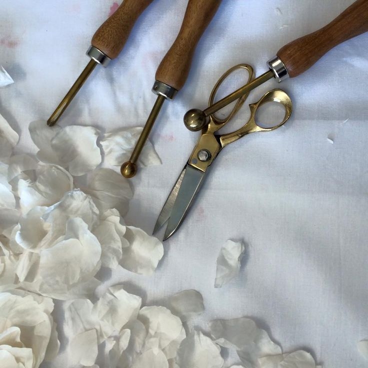 Precious petal work with our french millinery tool kit