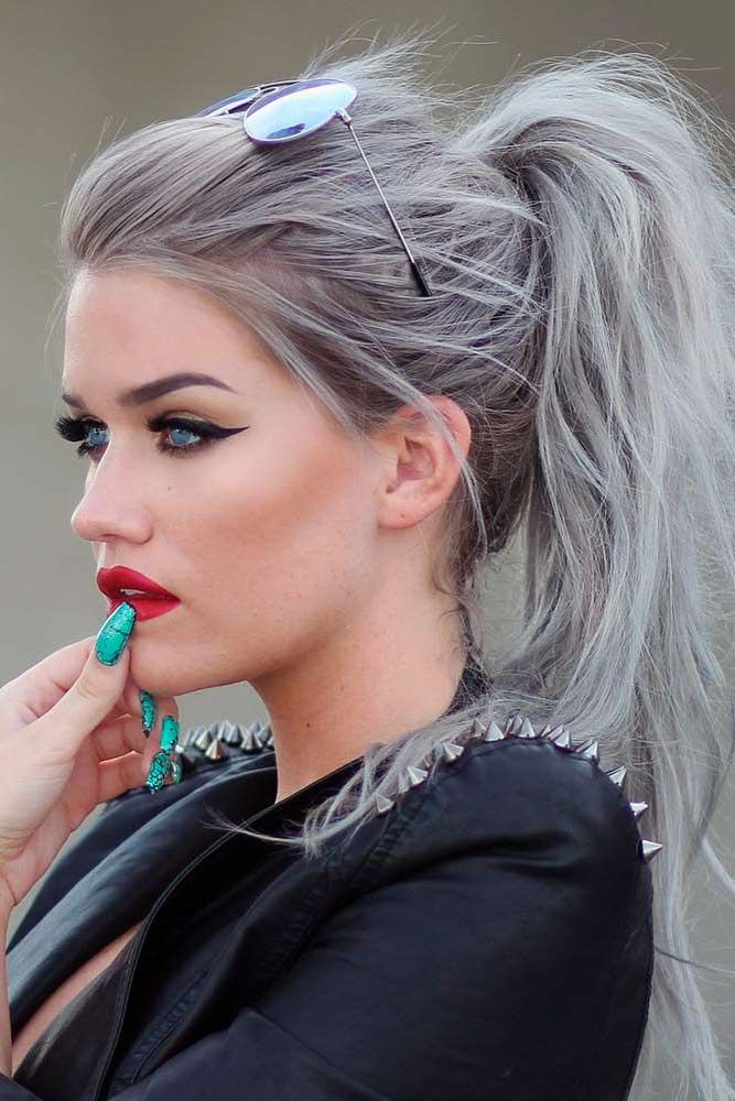 Grey Ombre Hair Ideas to Rock this Year ★ See more: http://lovehairstyles.com/grey-ombre-hair-ideas/