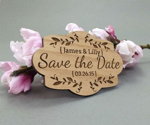 Wedding Save the Date Magnets Custom Engraved by JuniperandIvy
