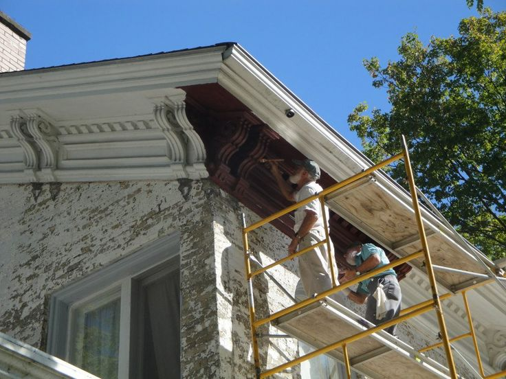 History in the making! The crew helping with the restoration of the Havilah Beardsley House in Elkhart, IN