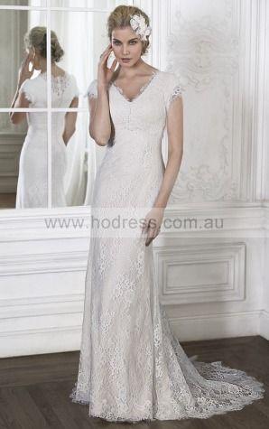 Sheath V-neck Empire Short Sleeves Floor-length Wedding Dresses wfs0061--Hodress
