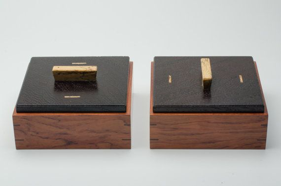 Pair of custom wooden boxes by LaFondWoodworks on Etsy