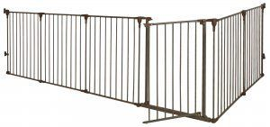 CONVERTIBLE OUTDOOR DOG GATE – Free shipping and tax included on all designer dog gates. Add style to your home with our luxury pet gates.  Perfect for puppies too! Our indoor and outdoor dog gates will be a great addition to your home.  #dog #doggate #talldoggate #petgate #puppygate #designerpetfurniture