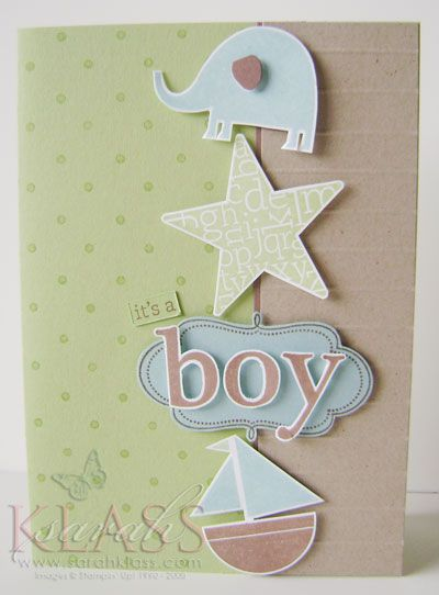 using Stampin Up Nursery Necessities