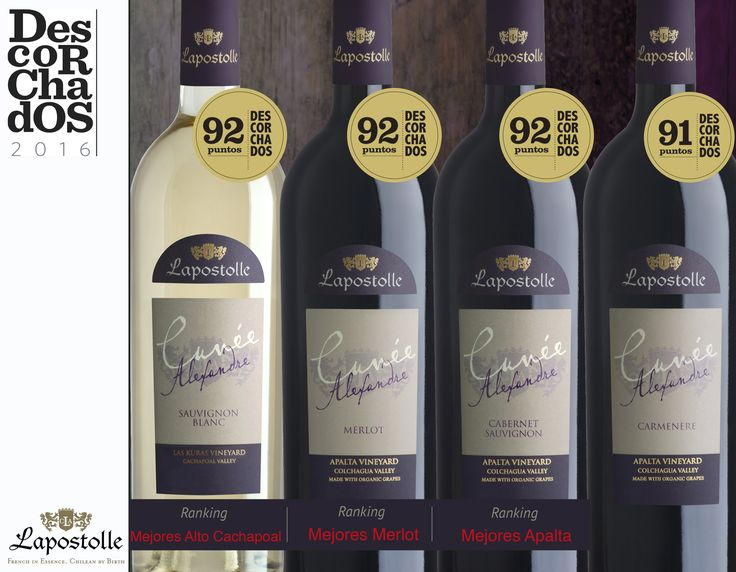 Descorchados 2016 results, very good scores for our Cuvée Alexandre
