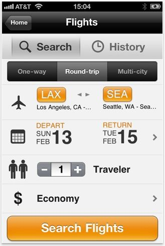 """Use """"My Trips"""" to organize upcoming flight, rental car and hotel confirmations. So useful on the go or at the airport when checking in..."""