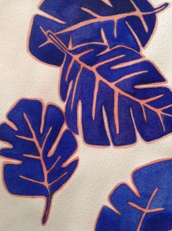 Palm Leaves No 1 Original Watercolor by EmilyAnnGrady on Etsy