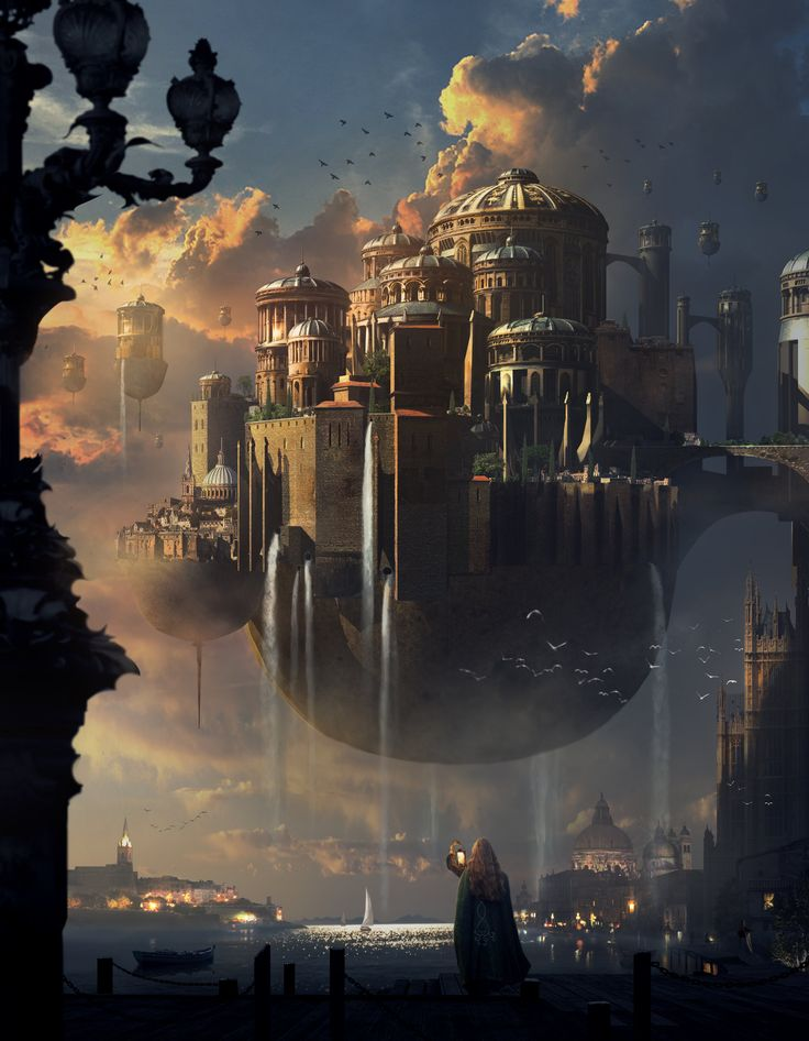 Floating City. Sunset Castle by Mai Anh Tran