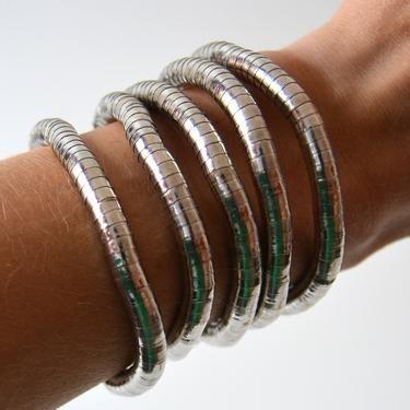 Náhrdelník tvarovatelný - Hadínek - stříbrná  - 2
