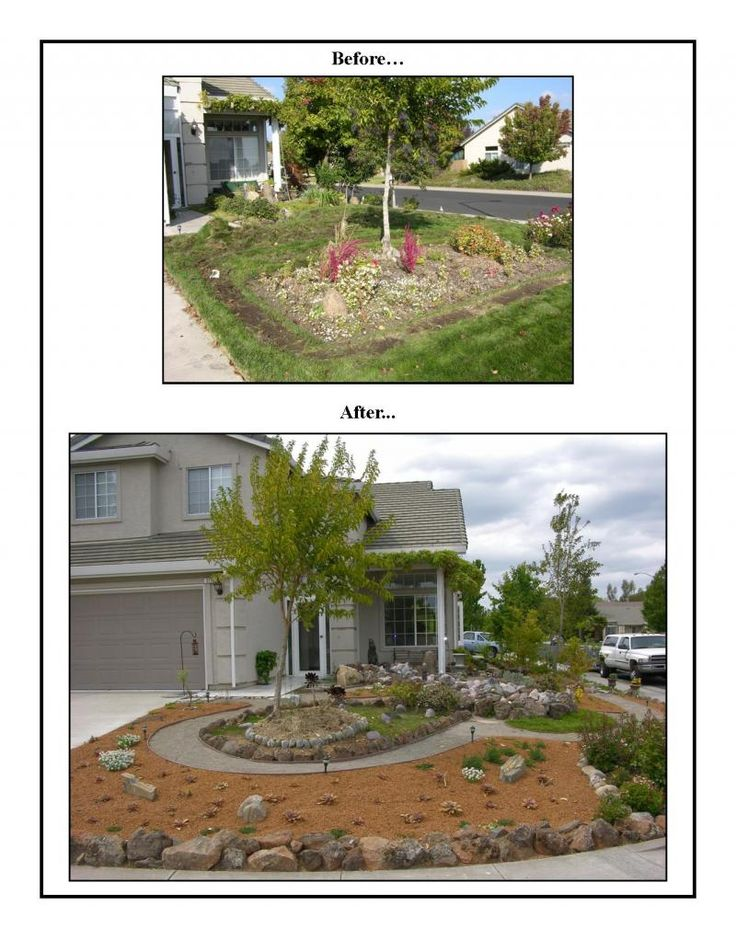 Before And After Of Annies Front Yard Make Over