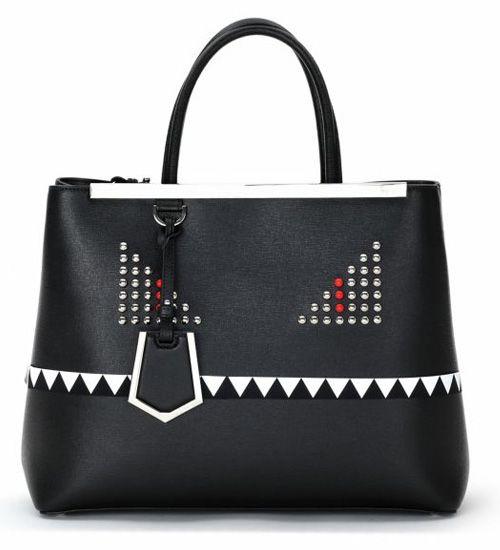 Fendi 2Jours Monster Medium Studded Saffiano Shopper        $298.00