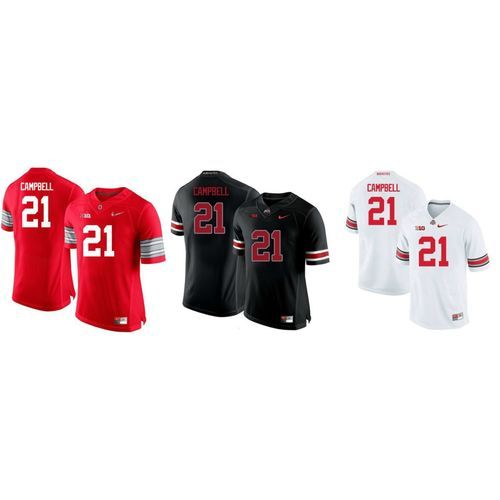 uk availability 3f409 6c871 Ohio State Buckeyes Parris Campbell #21 Football Jersey ...