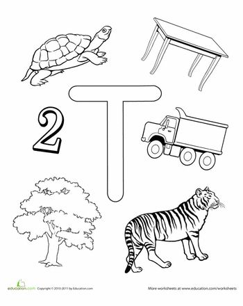 Free Printable Worksheet: T Is For...