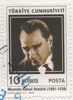 Mustafa Kemal Atatürk postage stamp