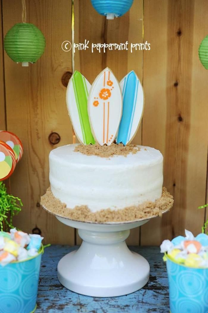 Disney Teen Beach Movie Party Planning Ideas Supplies Surf Cake Idea