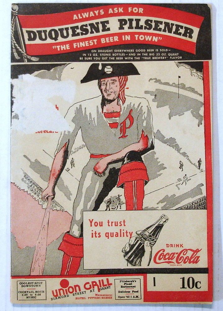 1943  Pittsburgh Pirates Program. VS. Chicago Cubs 8/27/1943. Program overall is in terrific condition but has paper loss on the cover.otherwise just only minimal wear. Strong color and pages as well as no major rips or missing content. | eBay!