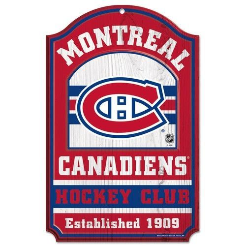 Montreal Canadiens Wooden Sign