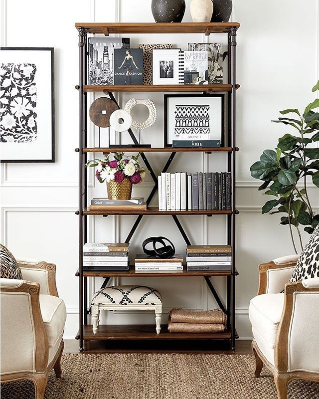 Styling Display Bookcase Industrial Shelves Shelving