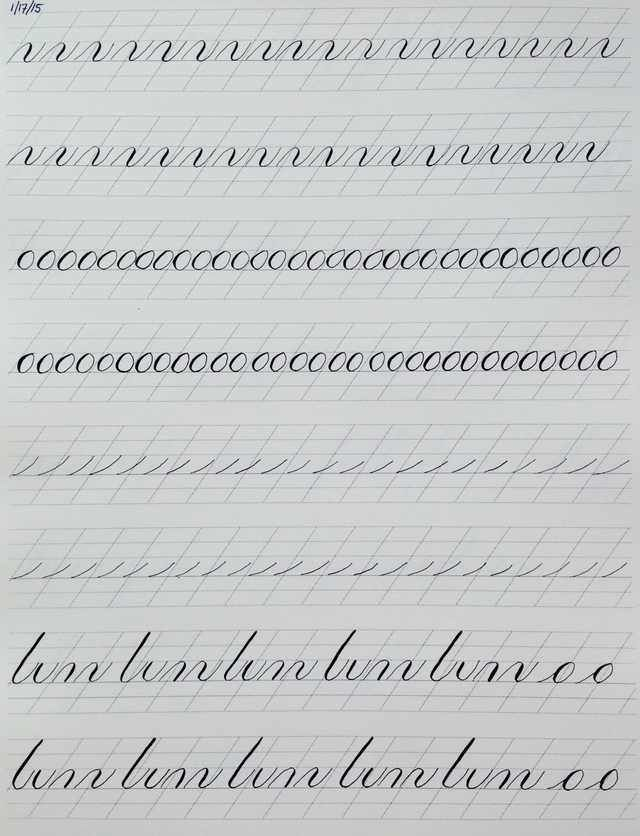 Copperplate Practice Strokes | Calligraphy | Copperplate