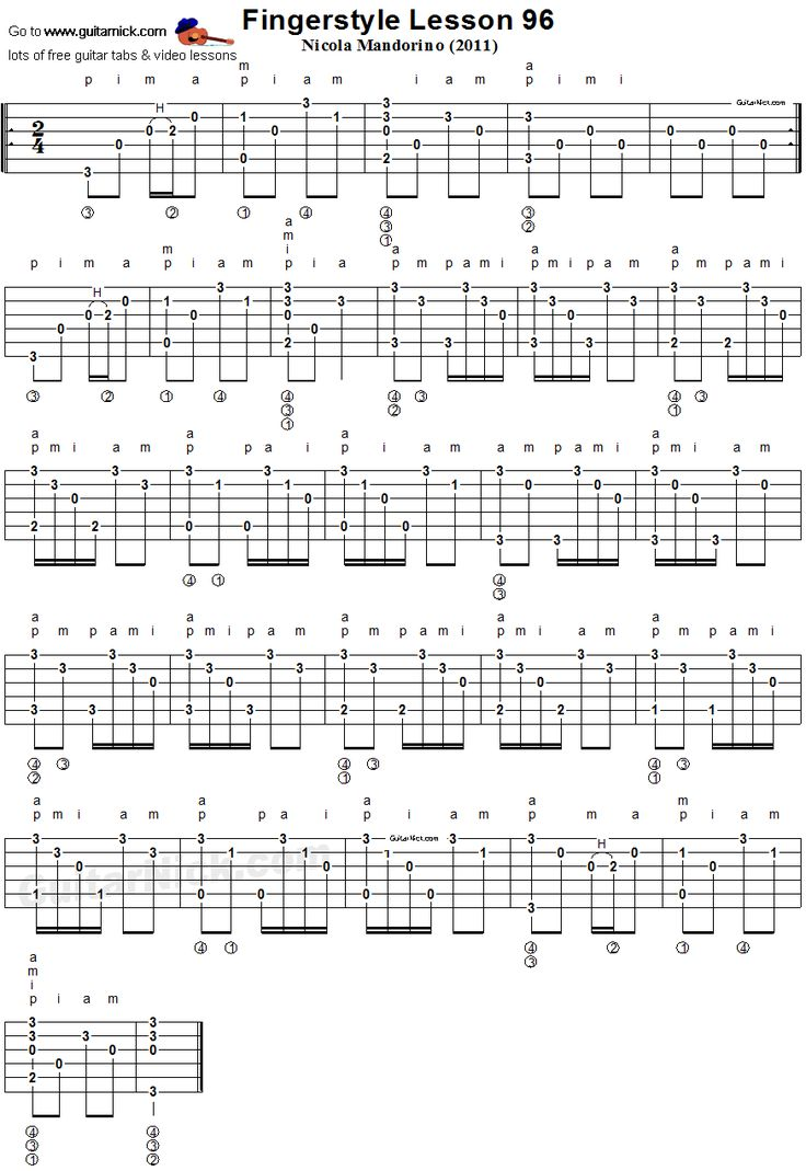 117 best music images on pinterest musicals sheet music and bass fingerstyle lesson 96 acoustic guitar tab fandeluxe Image collections