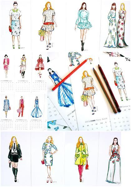 Holiday gift ideas for the women on your Christmas or Hanukkah list! Give the gift of Fashion Illustrations all year round! My 16 month hand made Fashion Illustration  calendars are available now in my Etsy shop: https://www.etsy.com/listing/196030738/fashion-illustration-calendar-16-month?ref=shop_home_active_1 - this is the perfect Holiday Hostess gift....prints featuring Dior, Chanel, Miu Miu, Prada, Tory Burch, etc., are frameable after use!
