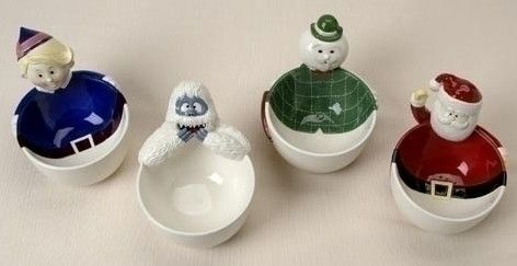Rudolph Character Ceramic Serving Bowls Set of 4- SOLD OUT