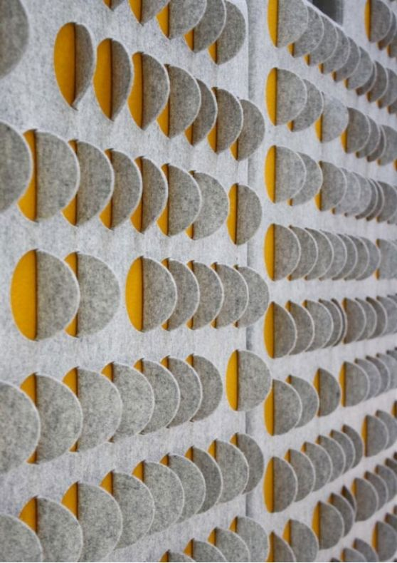 VISI | Articles | The feel of walls to come |  Beautiful wall panels from 100% wool by London designer Anne Kyyro Quinn.