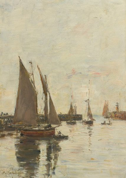 Trouville, High Tide by Eugene Boudin | Art Posters & Prints