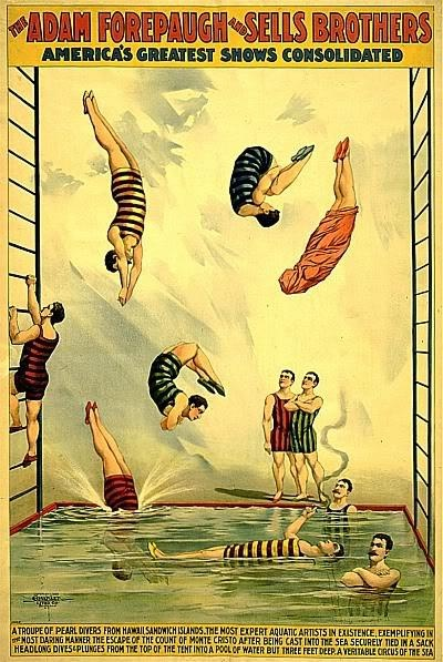 vintage poster acrobats