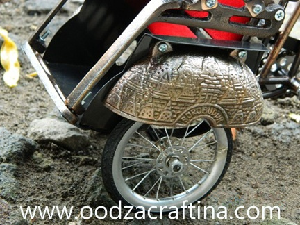 this miniature pedicab is from yogyakarta