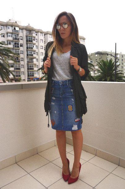 10 looks con faldas de mezclilla