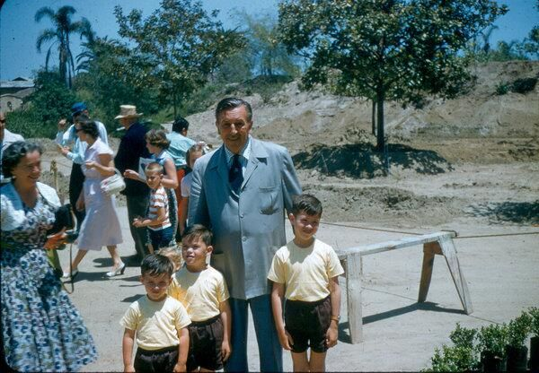 #ThrowbackThursday Walt Disney poses with a few guests in 1956 (from @ DisneyMemories on twitter)