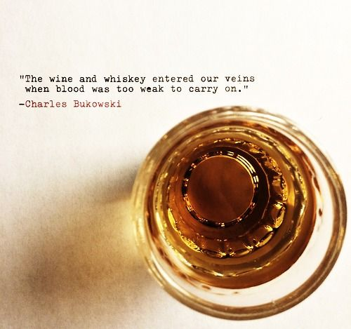 Submission Saturday - Charles Bukowski's Birthday Edition Quote Submitted by mayeverydoorbeyourhome Cheers.