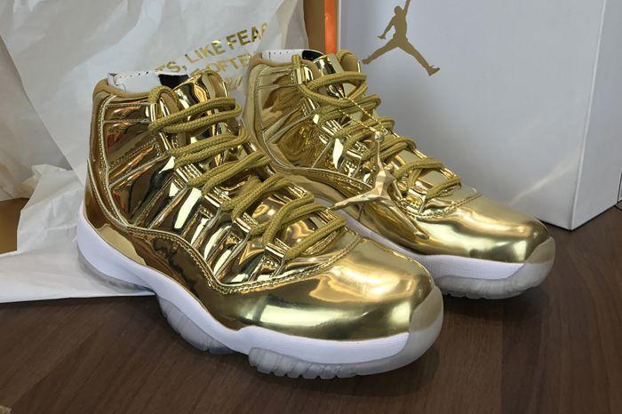 596086622433 ... buy kawhi leonard air jordan 11 pinnacle metallic gold white free  shipping c9ebd e6740